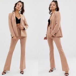 📸 Asos ❉ Chic Workwear Suit Blazer Jacket ❉ Tan
